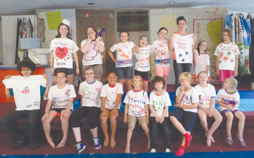 Second Annual Summer Arts Camp participants: Front Row: Robert Grecu (left), Zoe Hinkey, Hannah Smart, Grace Johnson, Ben Winfield, Adriran Grecu, Ryan Wagner, Kate Nassif and Mya Matherson; Back Row: Zella Miller (left), Revanna Preston, Sarah Lore, Abby Tharp, Karigan Skiba, Grace Coffindaffer, Lily Dense, and Luna Martin (Photo by Josie Martin)
